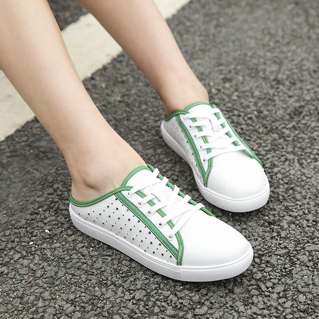 Women Sandals Summer Shoes Half Slippers Flip Flops Genuine Leather Sandals Clogs Shoes Woman Platform Sandal Plus Size 35-40