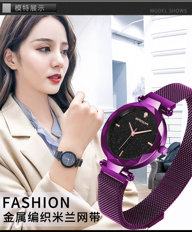 Digital watch lady 2019,woman glitter watches luxury rose gold silver fashion,magnet water proof crystal stainless steel watchDigital watch lady 2019,woman glitter watches luxury rose gold silver fashion,magnet water proof crystal stainless steel watch