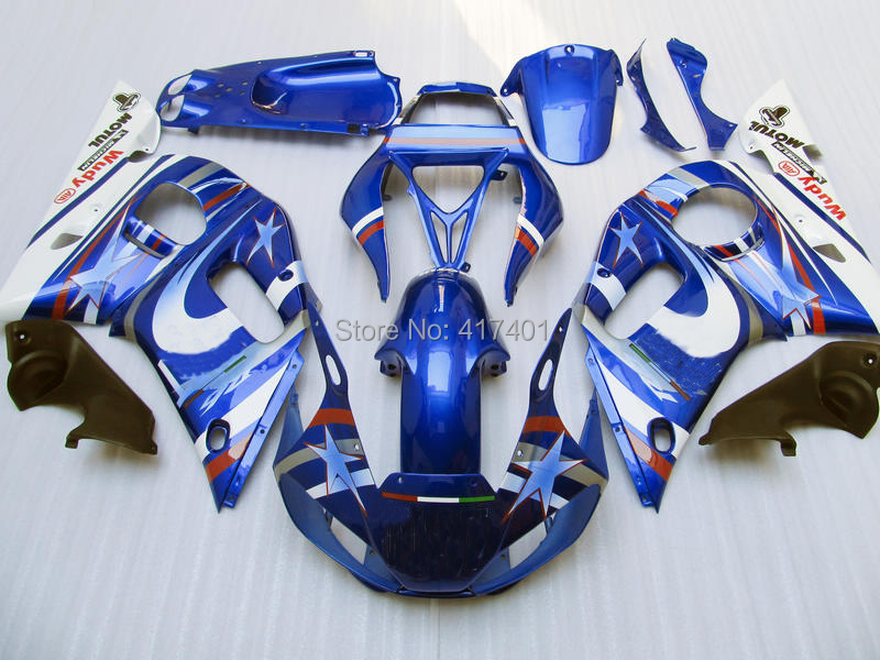 7gifts+ Blue white fairing kit for Yamaha YZF-R6 98-02 YZF R6 98 99 00 01 02 YZF 600 R6  ...