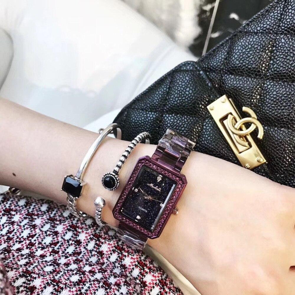 Quadrado Pulseira Relógios para As Mulheres do
