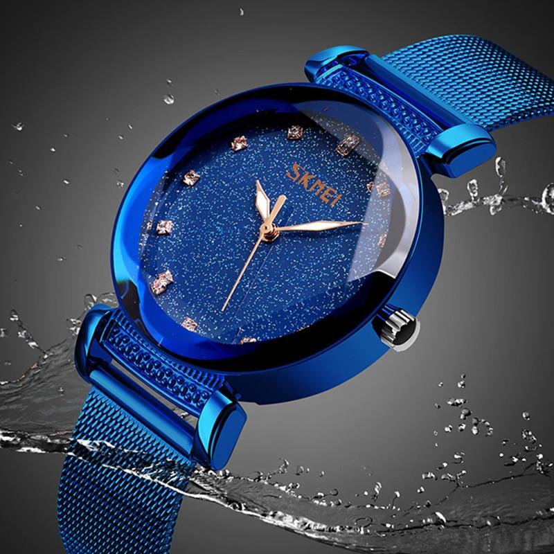 Quartz Watches Women Fashion Stainless Steel Wristband Waterproof Ladies Girls Watch Reloj Mujer 2019 SKMEI