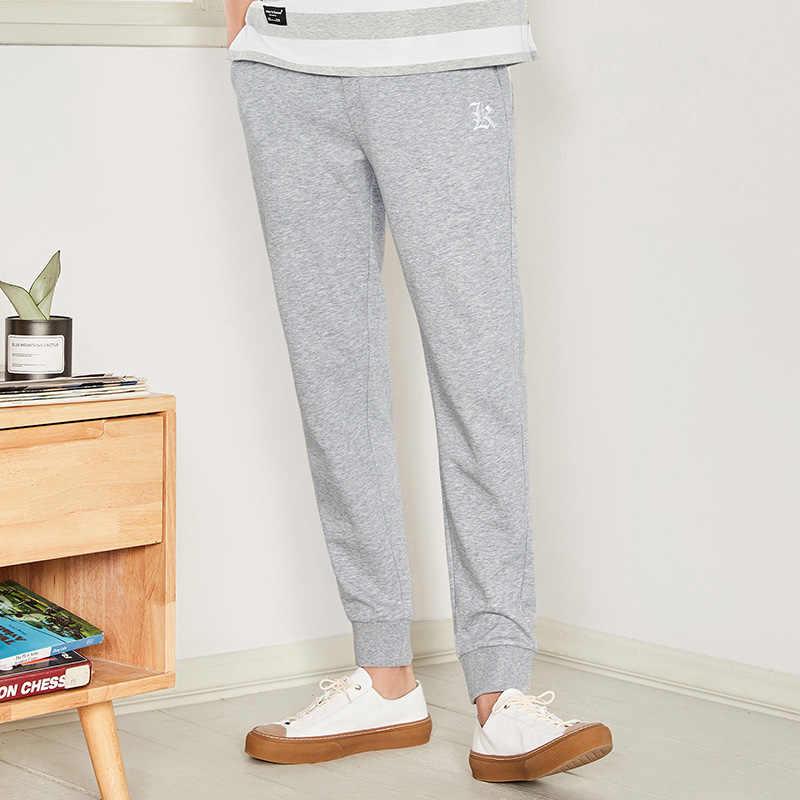 SEMIR повседневные мужские штаны с забавным принтом, хлопковые летние черные мужские штаны для бега, спортивные штаны размера плюс, черные брюки pantalon