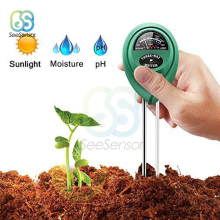 3 в 1 почвы Водонепроницаемый рН-метр кислотность влажность Солнечный свет садовые растения цветы Влажный Тестер проверка инструмент