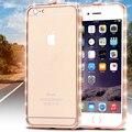 Quadro diamante caso para o iPhone 6 4.7 brilhante Rhinestone capa para apple iPhone 6 mais 5.5 aro de alumínio telefone bolsas de luxo elegante