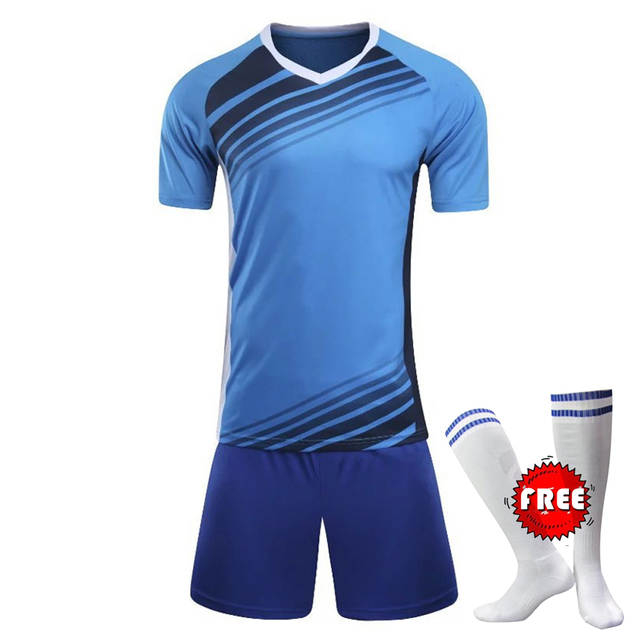 placeholder Professional Customize Adult kids Breathable Soccer Set 2017  2018 Soccer Jerseys Uniforms Children Football Kit 332b0374f