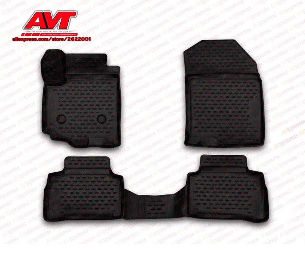 Floor mats for Suzuki Grand Vitara 2005-2015 4 pcs rubber rugs non slip rubber interior car styling accessories