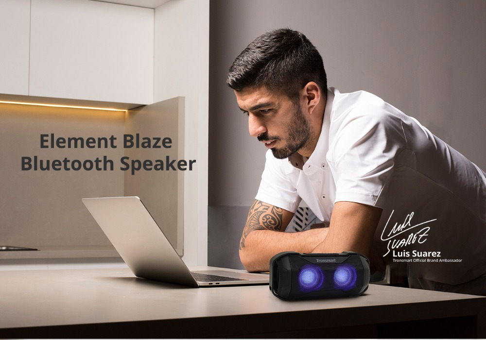 Tronsmart Blaze Bluetooth Speaker 10W IPX56 Column Waterproof Speaker with Superior Bass & LED Lights for bicycle sports 9