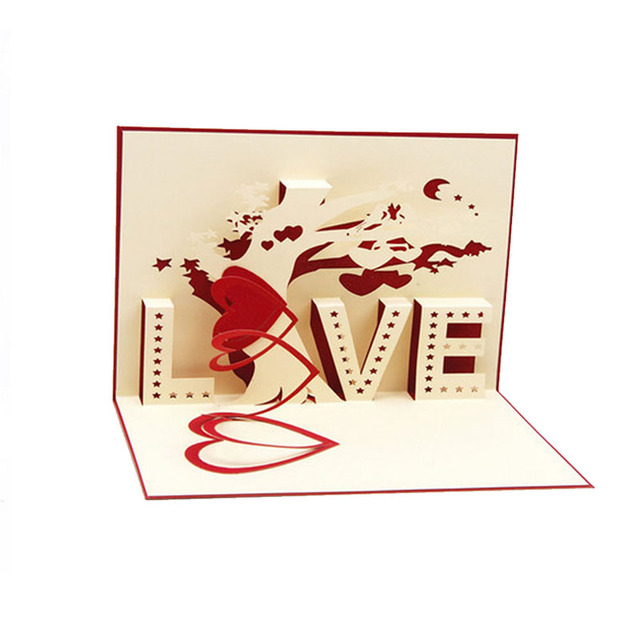 3d Pop Up Cards Cupid Heart Happy Valentine Anniversary