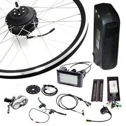 Jueshuai E rower 48 V silnik 500 W koła zestaw do konwersji roweru na elektryczny zestaw do roweru elektrycznego na 20 24 26 700C tylne przednie koła silnik