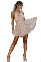 Sexy Off Shoulder Sequin Tassel Summer Dress 2017 Beach Party Short Dress Women Backless Vintage Night