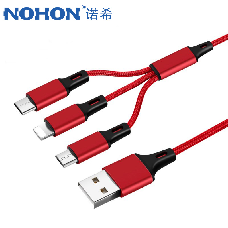 NOHON 3 in 1 Micro USB Type-C Lighting Charging