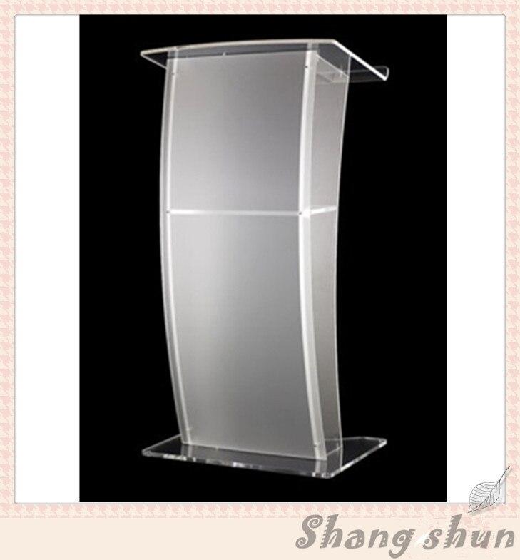 Luxury Acrylic Lectern, Perspex Podium, Plexiglass Church Pulpit Modern Acrylic Lectern Podium Pulpit hot sale fre shiping customized acrylic church lectern pulpit lectern podium cheap church podium