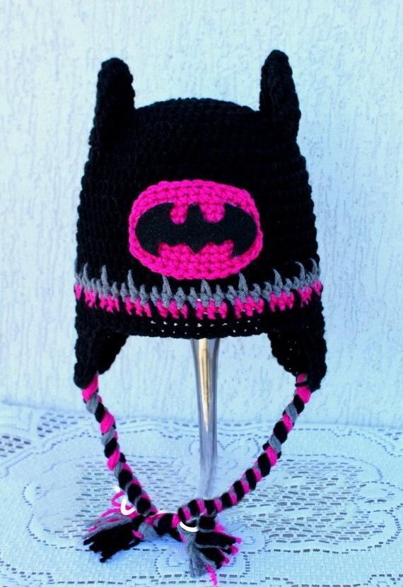 Free Shipping Batman Crochet Beanie Skullcap Hat Batman Crochet