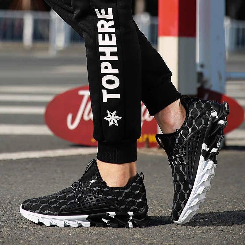2019 летние мужские повседневные кроссовки Удобная мужская обувь спортивные кроссовки мужские дышащие кроссовки Большие размеры 47