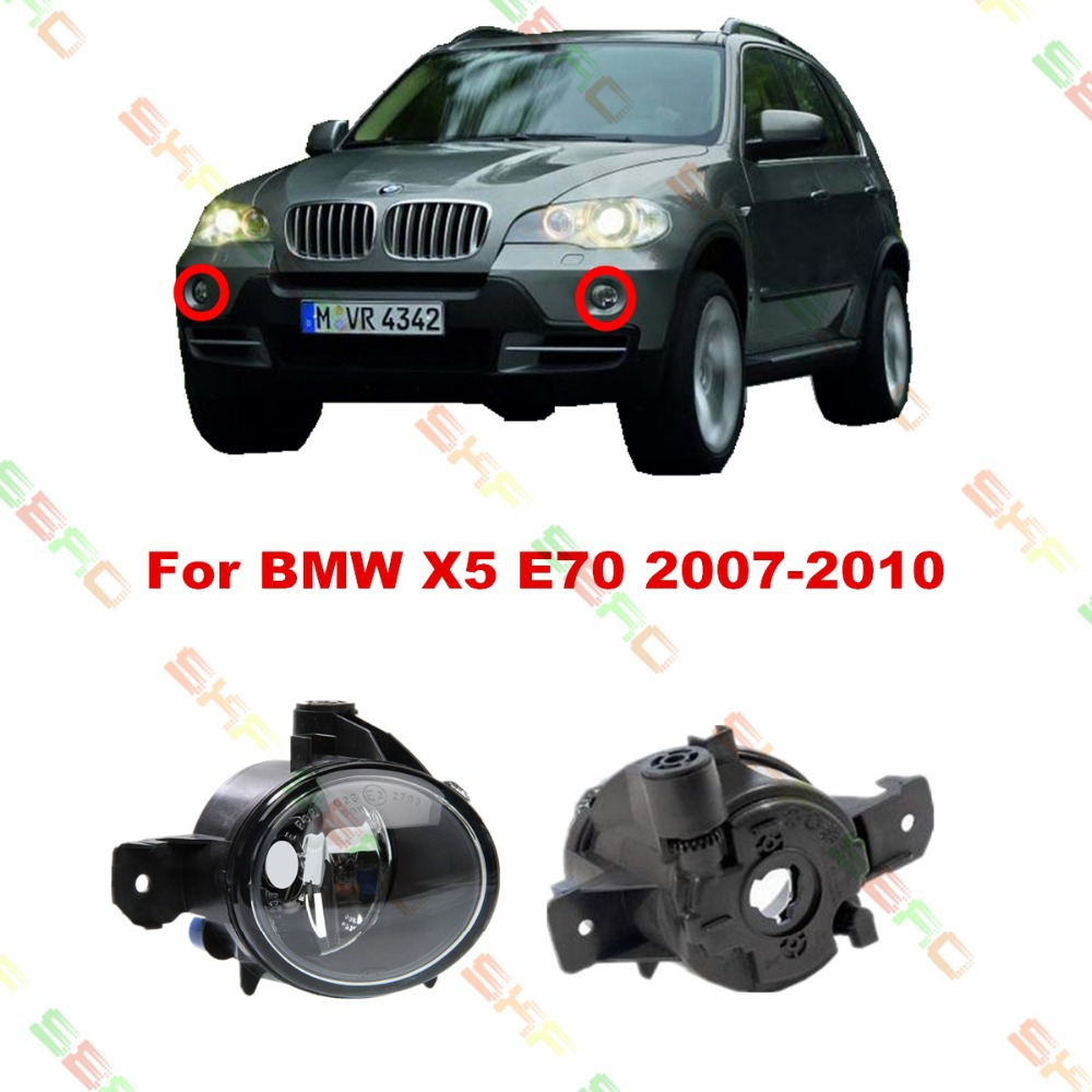 ФОТО For BMW X5 E70  2007/08/09/10   car styling fog lights   1 SET FOG LAMPS