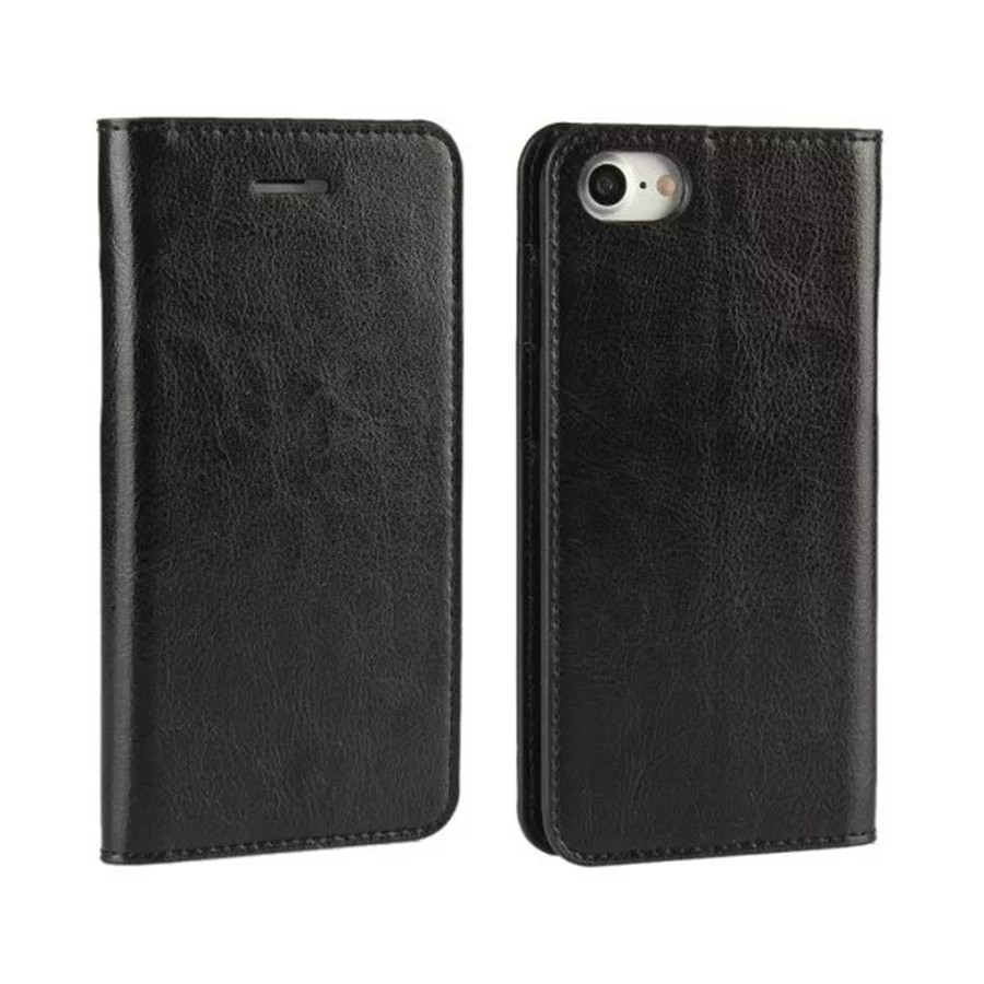 Real Genuine Leather Mobile Phone Case For iphone 7 Flip Stand Wallet With Card Slot Holder Cellphone Protection Accessories