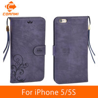 CORNMI For IPhone 5 5S Case Cover Leather Flip Vintage Luxury Phone Cases For Apple IPhone