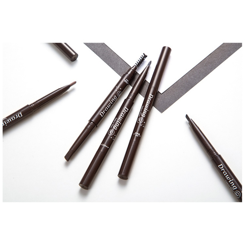 Eyebrow <font><b>Pencil</b></font> Makeup Waterproof Eyebrow <font><b>Pencil</b></font> Long Lasting Paint Tattoo Eyeliner Eye Brow Pen Makeup Tools 7 Colors image