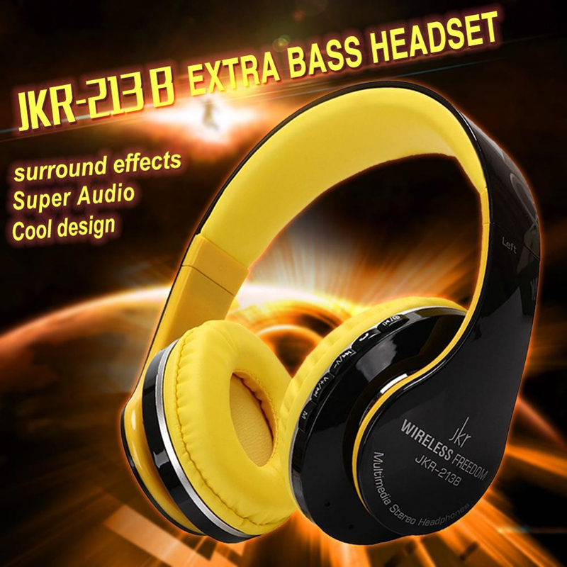 Original JKR 213B Hifi bluetooth headphones with microphone wireless headset bluetooth for Iphone Samsung Xiaomi headphone kz headset storage box suitable for original headphones as gift to the customer