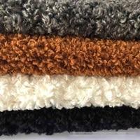 Imitation wool curly velvet faux fur women's home textile plush fabric( 25mm pile long)