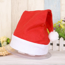 4c433971aee26 2017 Adults and Kids Christmas Caps Thick Ultra Soft Plush Santa Claus  Holidays Fancy Dress Hats