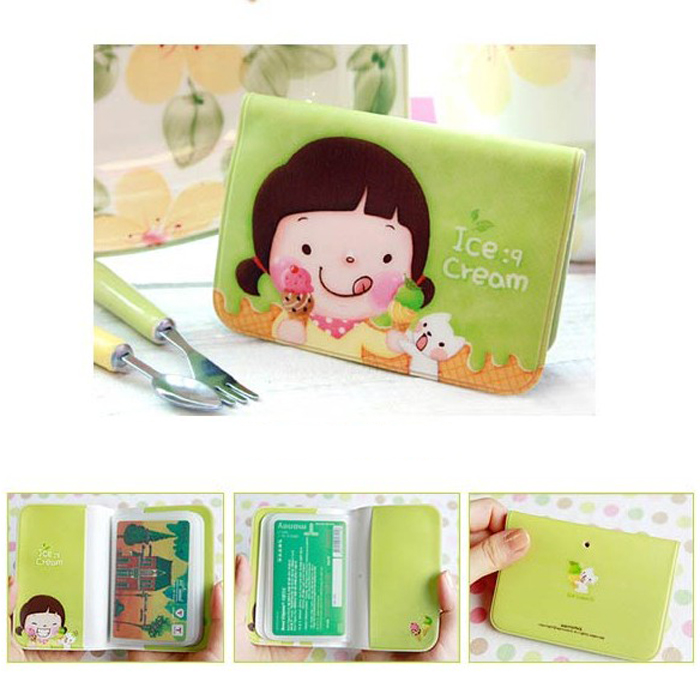 1pcs cute 12 card slot id card holder character business case wallet 1pcs cute 12 card slot id card holder character business case wallet credit card holder purse for women girls 4colors in card id holders from luggage colourmoves