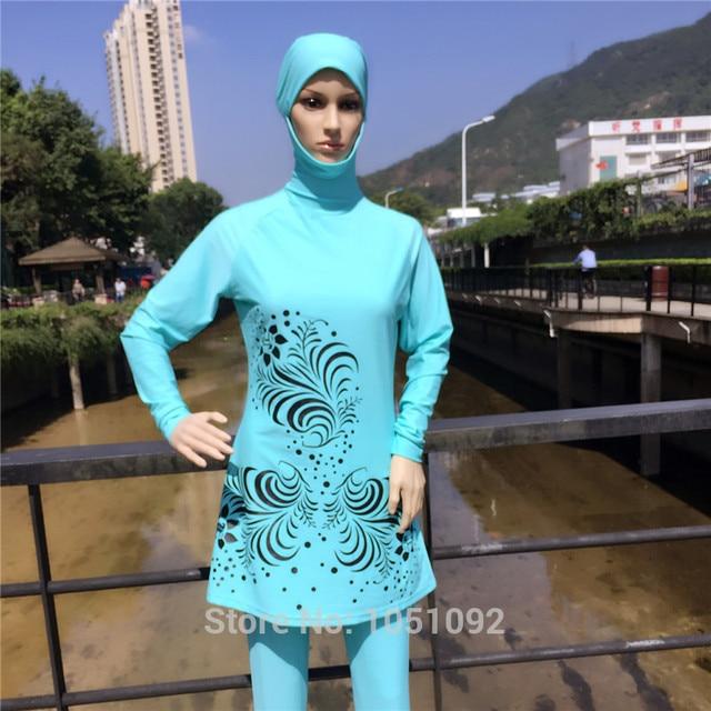 15ba745d67d 8XL-S Full Coverage Modest Muslim Swimwear Islamic Swimsuit for Women Arab  Beach Wear Muslim hijab Swimsuits bathing suit