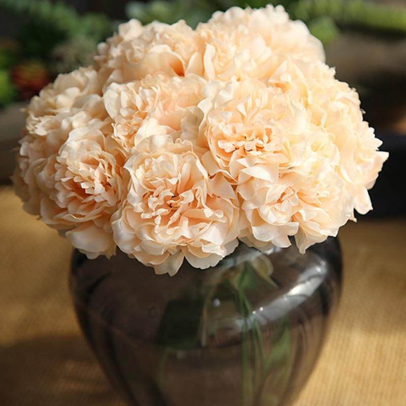 Pink Silk Hydrangeas Wedding Artificial Flowers For Home Decoration 3
