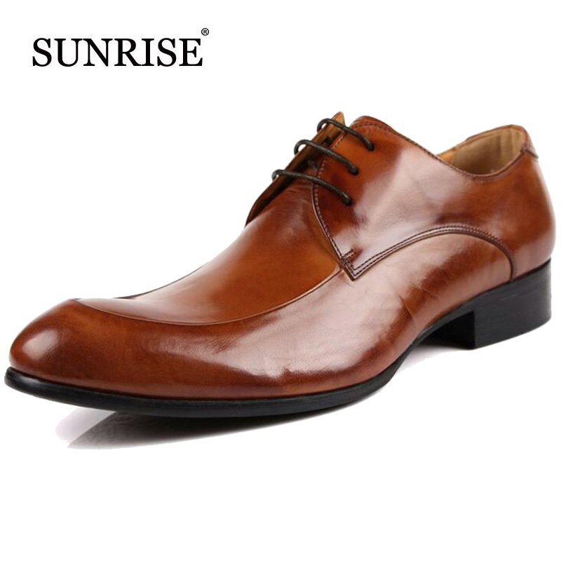 Genuine Leather Men Flats New Lace Up Leather Oxfords For Man Pointed Toe Men Dress Shoes Fashion Business Zapatos formal shoes plus size 2016 new formal brand genuine leather high heels pointed toe oxfords punk rock men s wolf print flats shoes fpt314