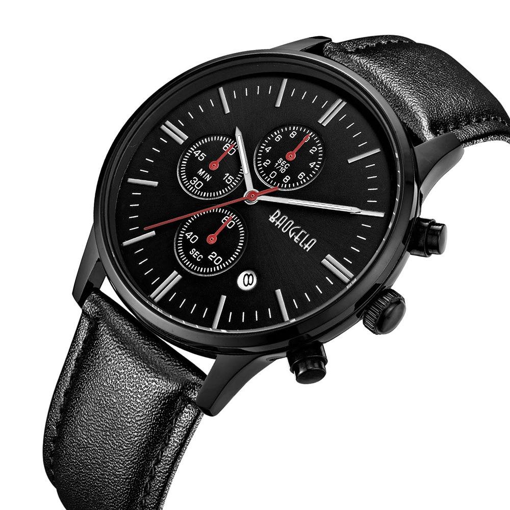 2018 Top Marke BAOGELA Mode Chronograph Sport Männer Uhren Luxus Quarzuhr Reloj Hombre Uhr Männliche stunden relogio Masculino