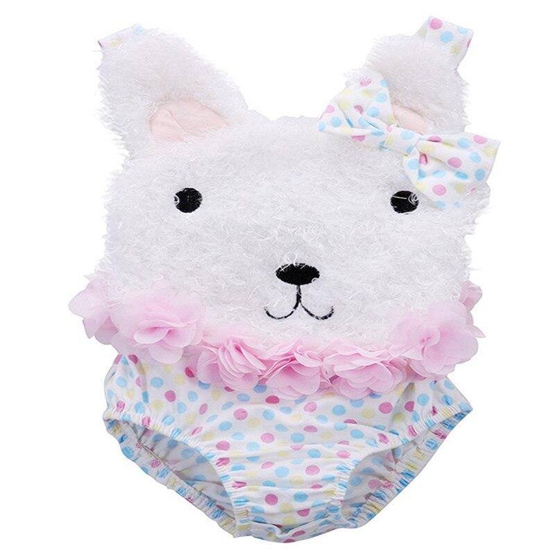 baby girl romper bawełna bez rękawów baby girl letnie ubrania - Odzież dla niemowląt - Zdjęcie 2