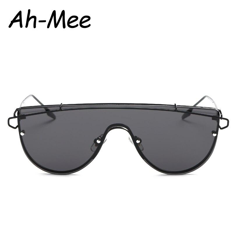 Integrado Twin-Vigas de moda Sem Aro Óculos De Sol Das Mulheres Designer de  Marca de Óculos De Sol Lente Plana Liga Armação Dos Óculos Para O Sexo  Feminino e4ce460722