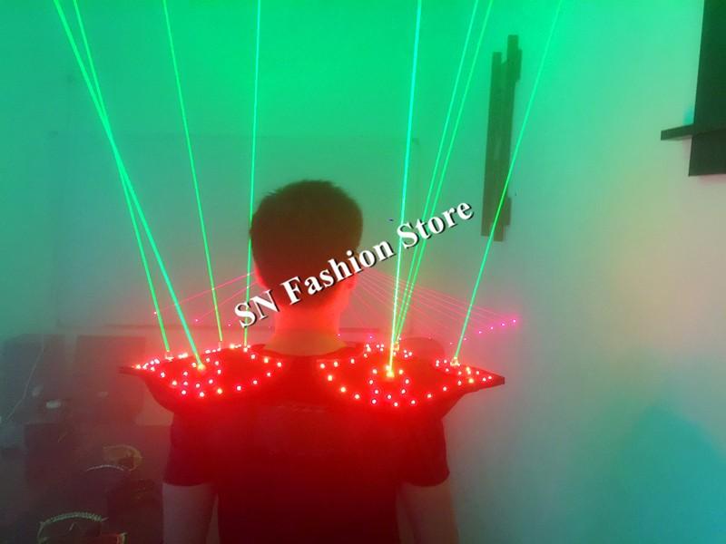 T16 Colorful light ballroom laser vest dj laser costumes dance wears laser glasses red laser suit led clothes shoulder led vest 21