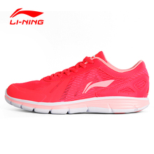 Li-Ning original Women's Light Running Shoes Mesh Breathable Cushioning DMX Footwear Sneakers Sports Shoes LINING ARBL094