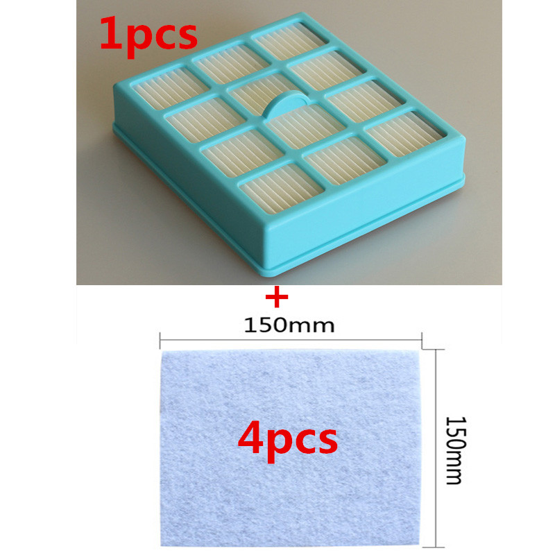 1Pcs vacuum cleaner filter 4Pcs motor protection filter for Philips FC8146 FC8134 FC8142 FC8136
