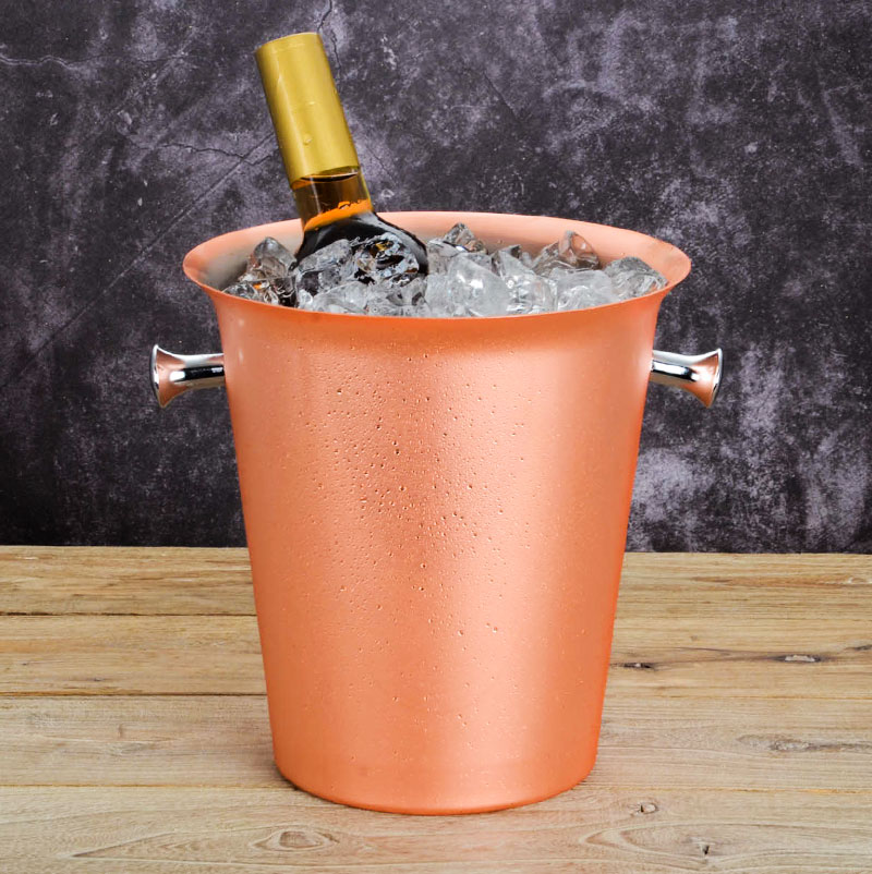 Stainless Steel Rose Gold Ice Bucket Red Wine Barrel