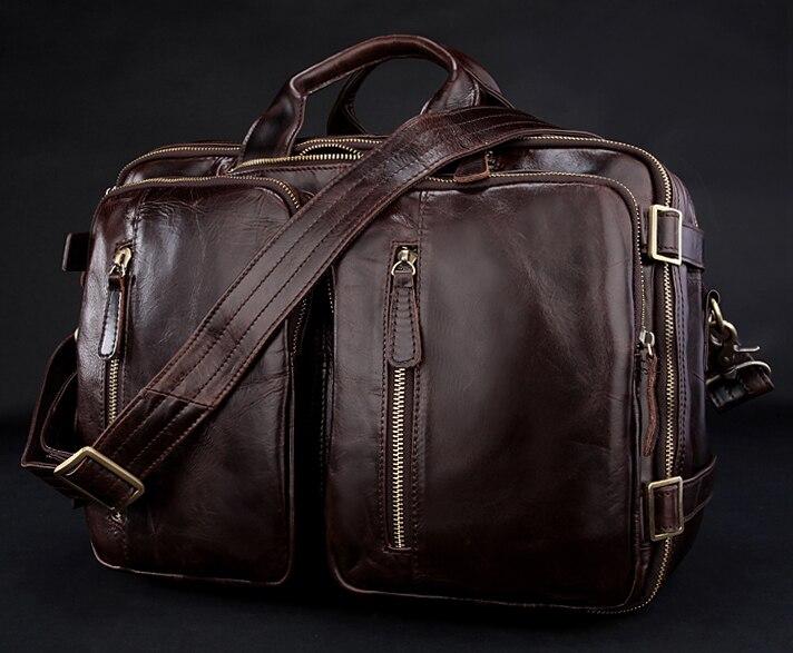 Fashion Multi-function Genuine Leather Messenger Bag Men Crossbody Bag  Leather Shoulder Bag for men 2ff732da8d6c4