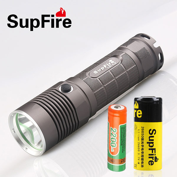 Supfire L5 CREE XM-L T6 10W Led Flashlight 1100 Lumens Led Light Torch by 18650 Battery