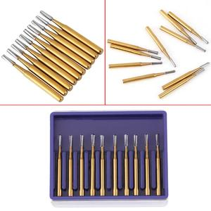 Image 5 - 10pcs Dental FG1957 Tungsten Steel Crown Metal Cutting Burs for High Speed Handpiece  Dentist Tools Lab Equipment