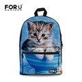 Mulheres Gato Bonito Impressão Mochilas de Lona Adolescentes 3d Animal Mochila para Sacos de Escola Meninas Estilo Casual Mochila de Viagem
