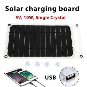 Image 3 - פנל סולארי קמפינג 5V 10W 2A עמיד שמש מטען לוח טלפון מטען מהיר מטען USB יציאת טיפוס שמש גנרטור חיצוני