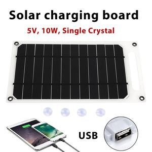 Image 3 - Solar Panel Camping 5V 10W 2A Durable Solar Charger Panel Phone Charger Fast Charger USB Port Climbing Solar Generator Outdoor
