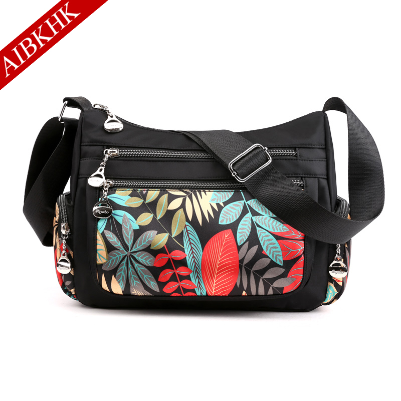 Crossbody Bags for Women 2019 Sac a Main Femme Multi Pocket Shoulder Messenger Bag Waterproof Nylon Travel Purses and Handbags in Top Handle Bags from Luggage Bags