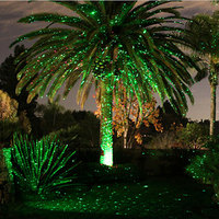 Outdoor Christmas Fairy Lights Holiday Laser Projector Shower Garden Home Decoration Single Green Waterproof