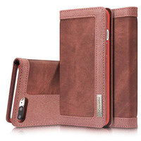 Luxury Magnetic Wallet Case For Apple IPhone 7 Flip Cover PU Leather Stand Phone Bags Cases
