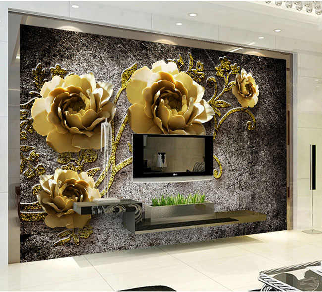 8d Stereoscopic Peony Cane Flower Wallpaper Murals 3d Wall Photo Mural for TV Background 3d Wall Murals 3D Flower Wall paper ceramics 3d jewlry wallpaper flower papel murals for tv background living room 3d wall paper 3d wall stickers 3d photo murals