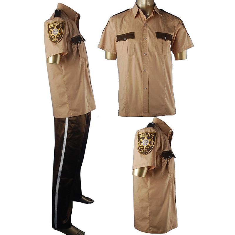 A Walking Dead Season 6 Rick Grimes Sheriff ing Egyenruhás Halloween - Jelmezek - Fénykép 1