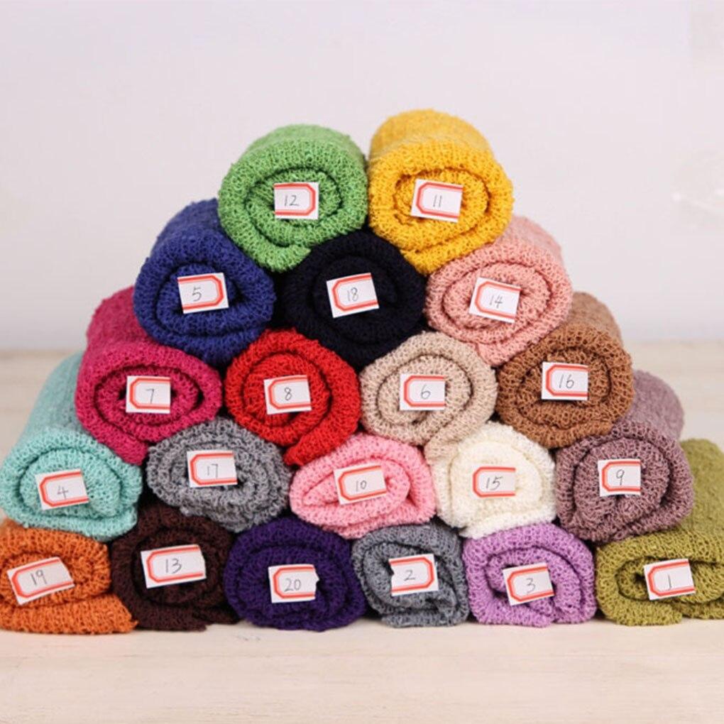 35*150 Cm Stretch Knit Wrap Neugeborenen Fotografie Requisiten Baby Kinder Decke Rayon Wraps Mutterschaft Schal Hängematte Swaddlings Foto