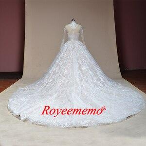 Image 5 - 2019 nuovo treno ad alta collo del merletto dellabito di sfera vestito da cerimonia nuziale Reale abito da sposa custom made abito da sposa di fabbrica direttamente da sposa abito