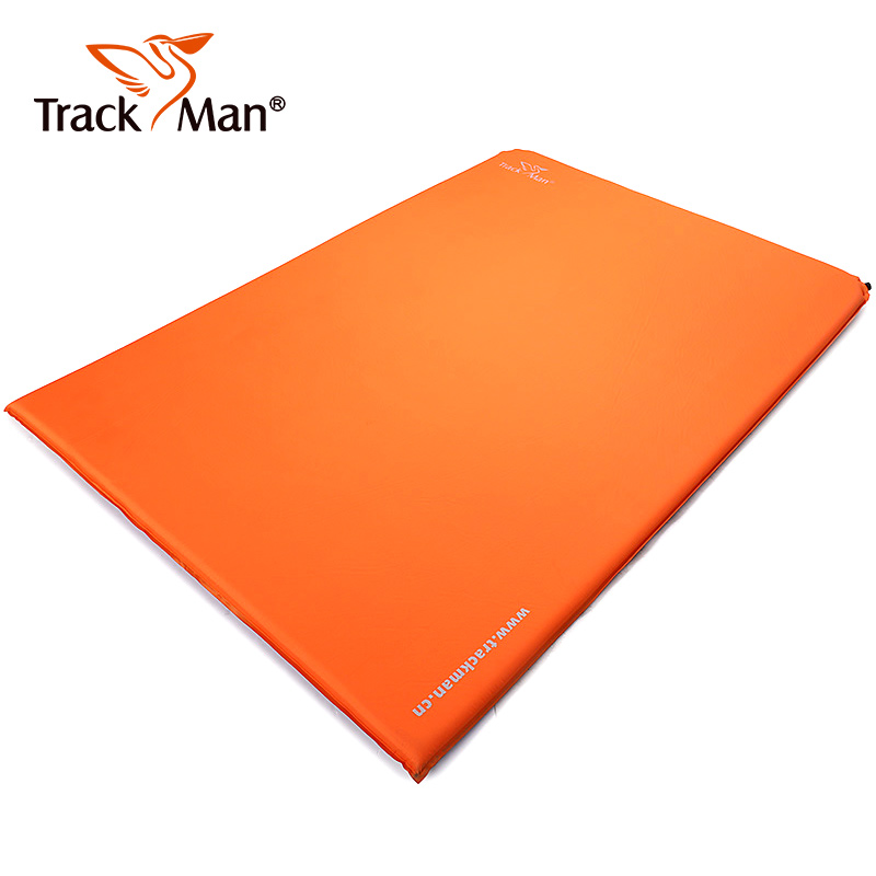 Trackman 2 Person Outdoor tent Mat Automatic inflatable Sleeping Pad with Pillow Camping Mat Travel double Mattress high quality outdoor 2 person camping tent double layer aluminum rod ultralight tent with snow skirt oneroad windsnow 2 plus
